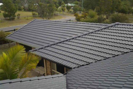 grey tile roof